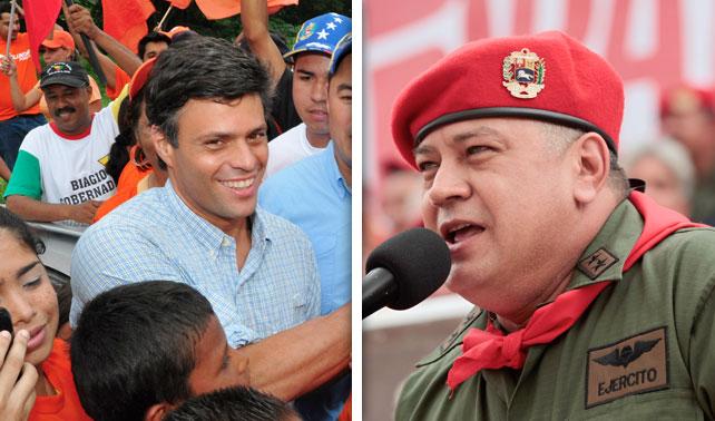 Diosdado Cabello y Leopoldo López inician campaña para presidenciales 2018