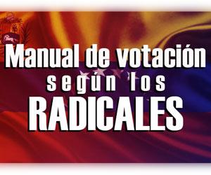 Manual de votación según los radicales
