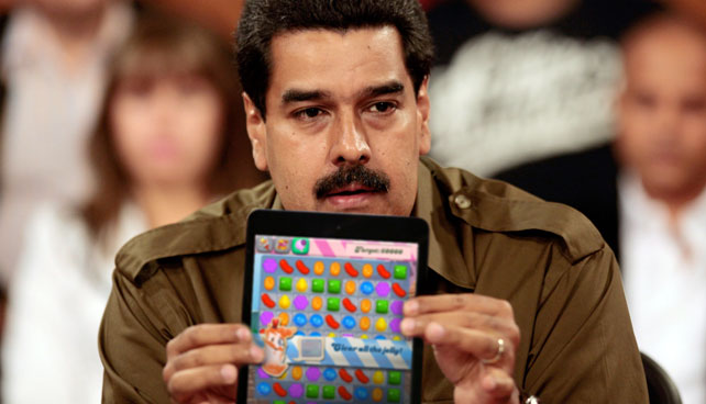 Maduro asegura que la CIA le inoculó la fiebre del Candy Crush