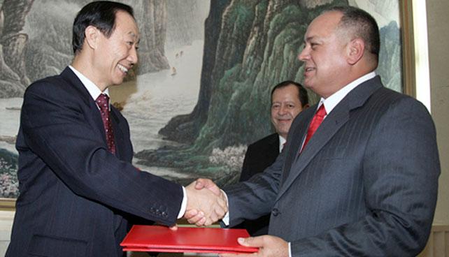 Diosdado otorga préstamo a China para fortalecer su economía