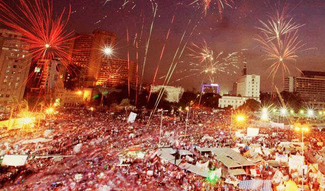 Egipcios celebran que en un año estarán tumbando a próximo Presidente