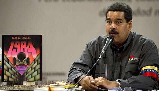 """Maduro confundió """"Plan de la Patria"""" con copia de """"1984"""" de Orwell"""
