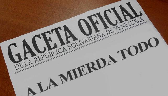 En Gaceta: A partir del 1ero de Enero de 2014 se elimina Venezuela