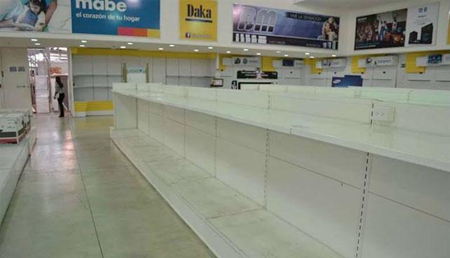 Gobierno acusa a comerciantes de vender anaqueles vacíos a sobreprecio