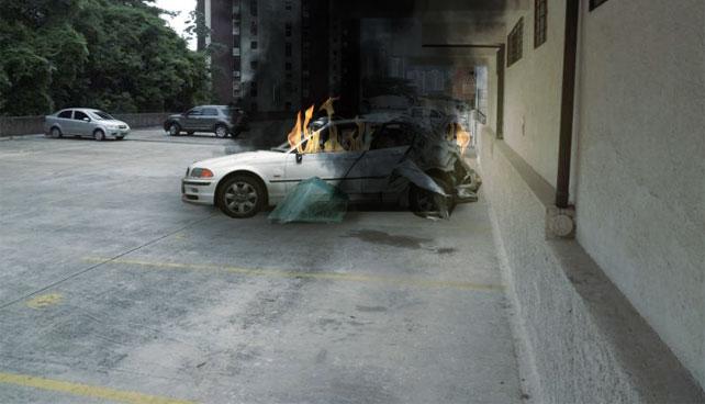 Fuerza Aérea destruye carro de vecino que estacionó en el puesto de Roque Valero