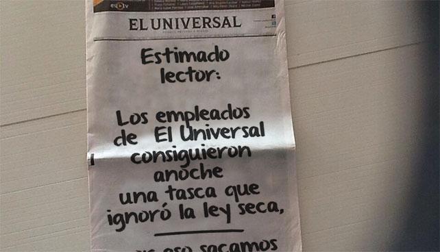 Las otras portadas que El Universal no se atrevió a publicar