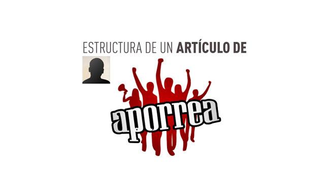 Estructura de un artículo de Aporrea