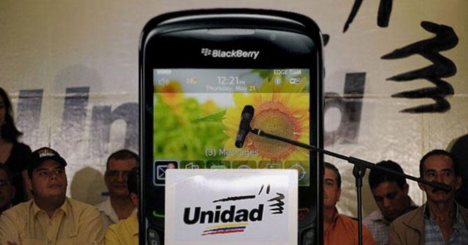 Designan a Blackberry del año 2009 nuevo Secretario Ejecutivo de la MUD