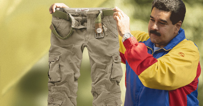 Maduro pone a la orden su cargo pant