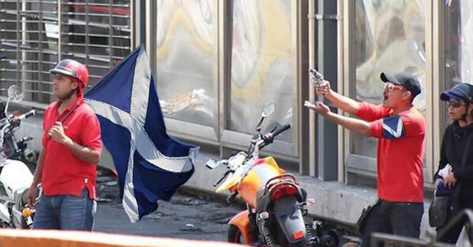 """Tupamaros salen a la calle a defender """"triunfo"""" escocés"""