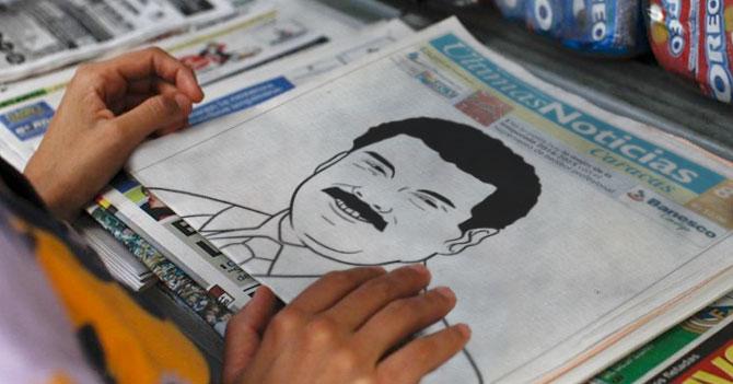 Últimas Noticias publica dibujo de Maduro coloreable en su portada