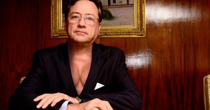 Presidente de Fedecámaras se pone tetas para que escuchen su mensaje