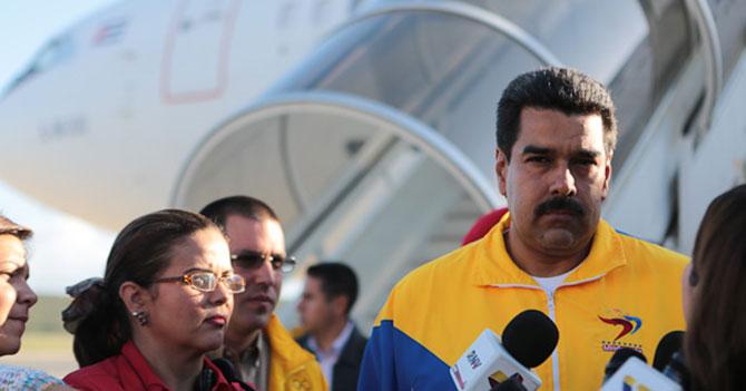 Maduro asegura que cuando se fue de Venezuela esto no estaba así
