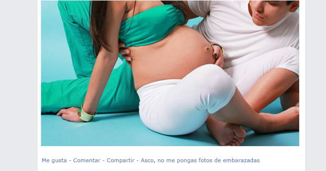 """Facebook presenta botón """"Asco, no me pongas fotos de embarazadas"""""""