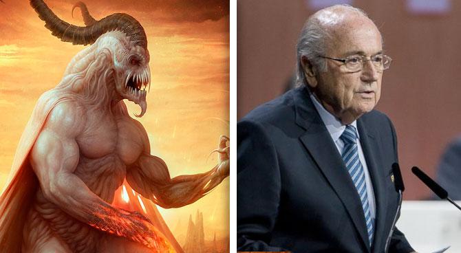 Blatter vence a Satanás en elecciones de la FIFA