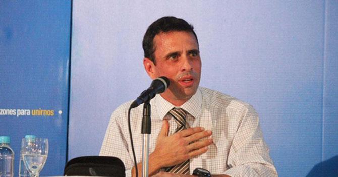 Capriles anuncia rapidito sus propuestas porque le queda 5% de pila