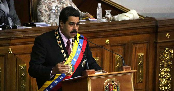 Maduro dice en cadena que antes de P y B va N