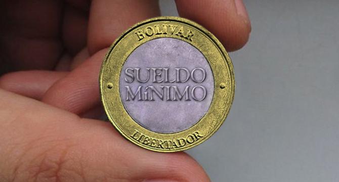 Banco Central de Venezuela presenta moneda de sueldo mínimo