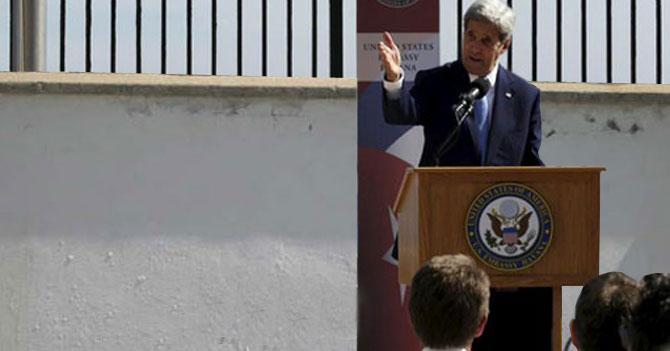 """Embajada de EEUU en Cuba estrena pared blanca para que cubanos escriban """"Yankees Go Home"""""""