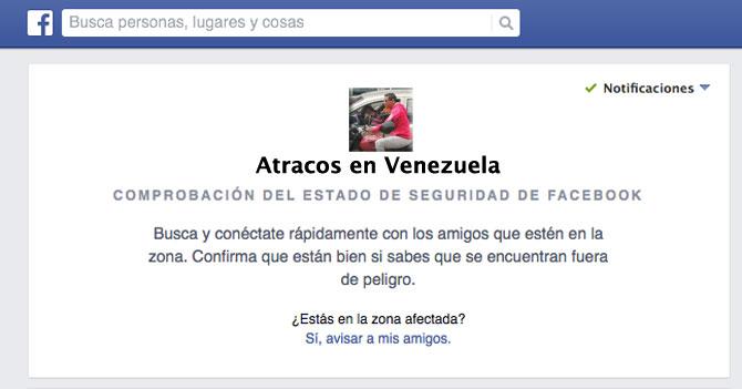 Facebook crea aplicación para notificar que venezolanos están bien al llegar a casa