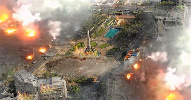 Malandros lanzan una bomba atómica de 2 megatones en robo de cartera en Altamira