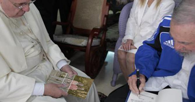 Papa regala a Fidel libro de consejos para mejorar su intimidad