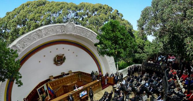 Diosdado anexa hemiciclo de la AN al jardín de su casa