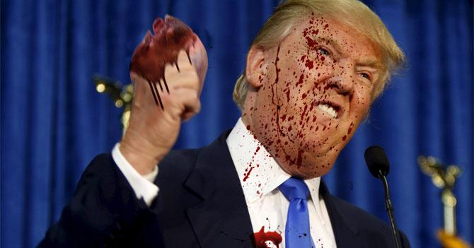 Trump mata a inmigrante a mano limpia y sube 12% en las encuestas