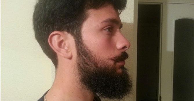 Joven que levanta desde que tiene barba teme que pasen de moda
