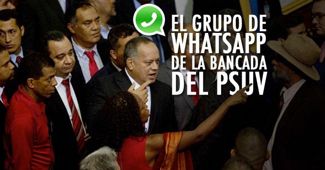 El Grupo de Whatsapp de la Bancada del PSUV