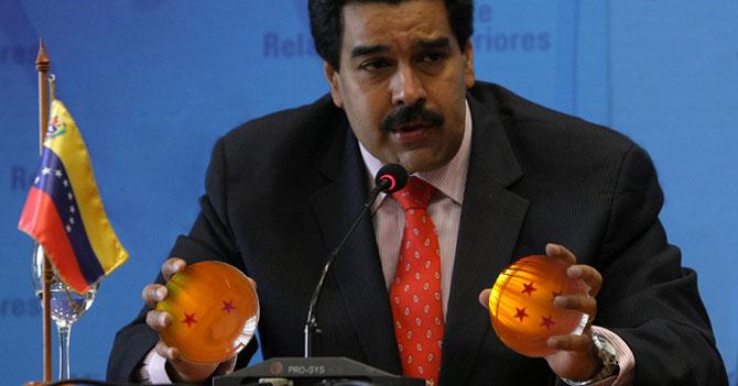 Para solucionar crisis del país, Maduro comienza a buscar las 7 esferas del dragón