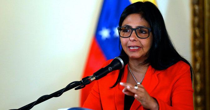 """Delcy Rodríguez: """"Venezuela puede alimentar a 3 países del tamaño de Choroní"""""""