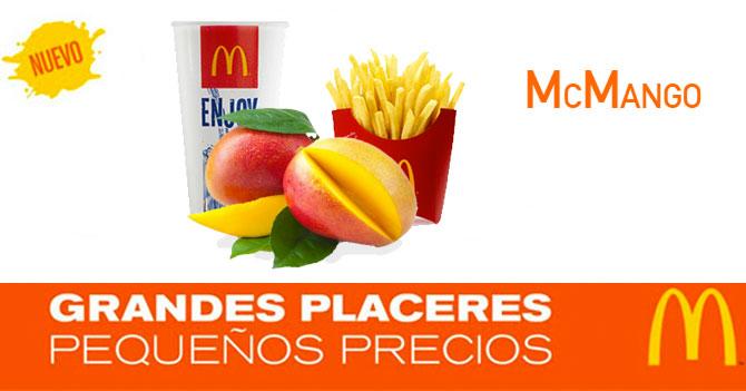 McDonald's se complace en presentar su nuevo McMango