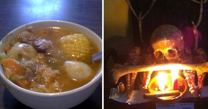 Santero tacaño no sabe si usar huesos de pollo para sopa o brujería