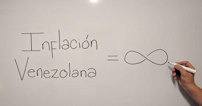 Inflación permite que venezolanos entiendan el significado del infinito