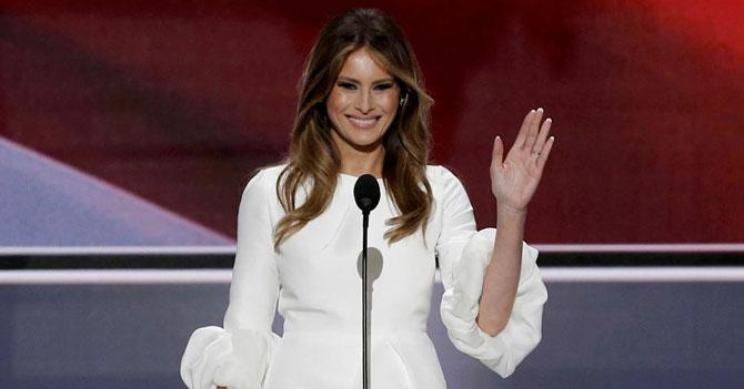 Melania Trump agradece a su esposo Barack durante discurso