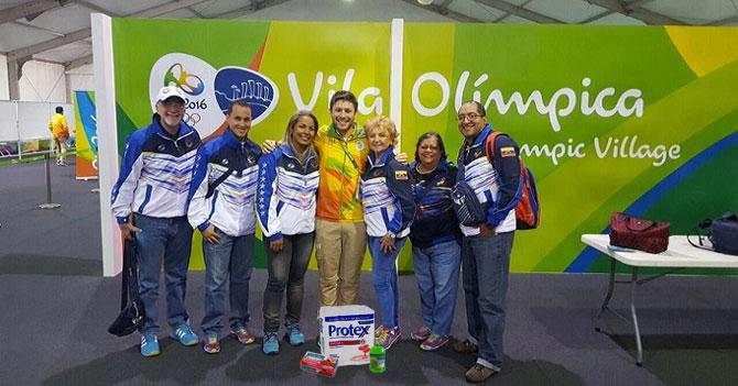 Delegación olímpica de Venezuela consigue jabón