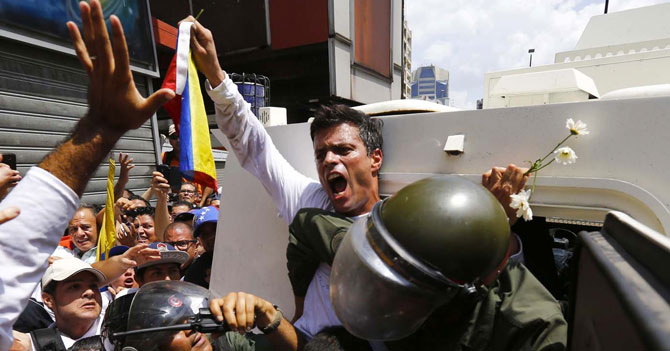Gobierno arresta otra vez a Leopoldo López