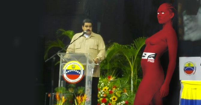 Nuevo uniforme de la PNB es bodypaint de ojos de Chávez