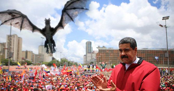 Opositor radical molesto porque MUD no mandó dragón a la Av. Bolívar a llevarse a Maduro