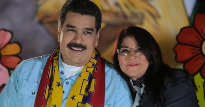 Maduro hace chiste de narcosobrinos a Cilia