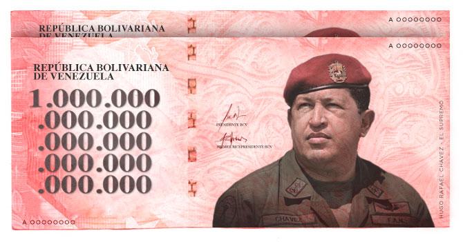 BCV anuncia salida de billete de un Chavardo (Bs. 1.000.000.000.000.000.000.000.000.000.000)