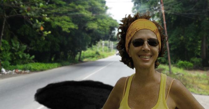 Valentina Quintero nombra a hueco en carretera de Caucagua como mejor atracción turística de Miranda