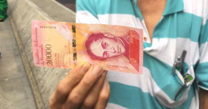 Entrevistamos al billete de 20.000 bolívares