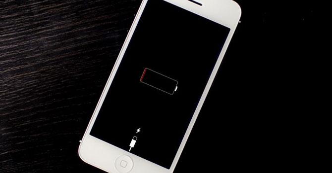 Celular coño de madre marca batería full justo antes de apagarse