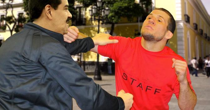 Maduro cansado de sacar del aire canales, le saca el aire a un escolta