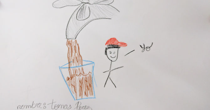 Niños en Venezuela gastan todos sus creyones marrones haciendo dibujos del Día Mundial del Agua