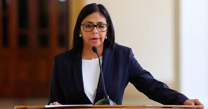 Delcy Rodríguez acusa a la OEA de ser intolerante a las dictaduras