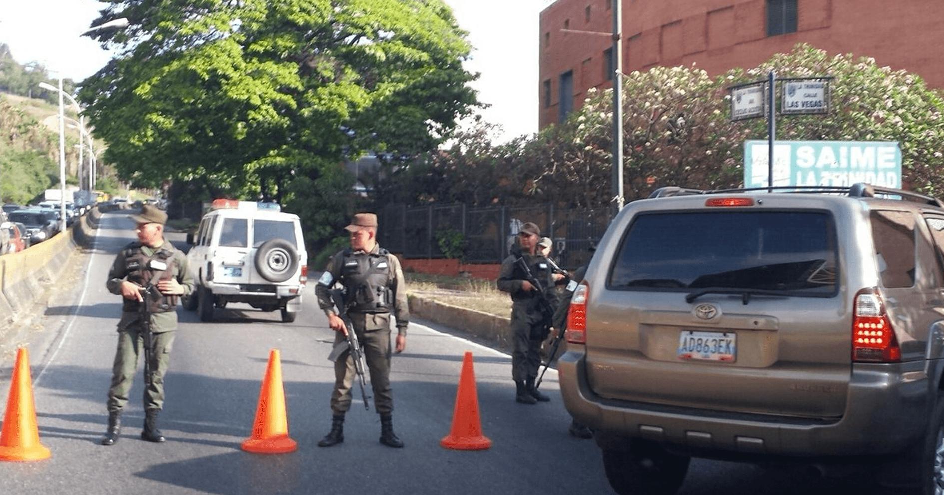 Guardia Nacional tranca Caracas para evitar que marcha opositora tranque Caracas