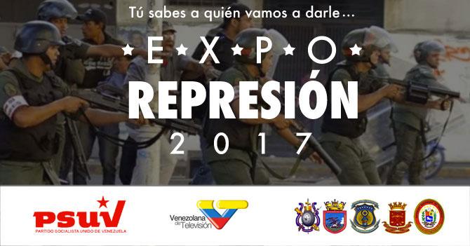 Gobierno lanza Expo Represión 2017 en Fuerte Tiuna